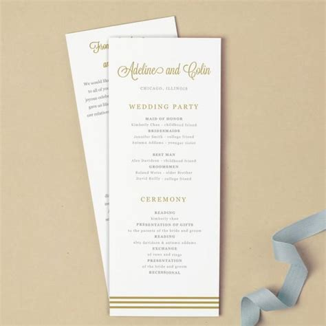 script template for apple pages invitation printable wedding program template 2399489