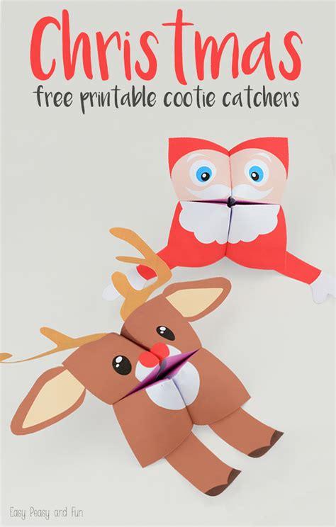 printable christmas fortune teller 16 inexpensive winter break activities with kids