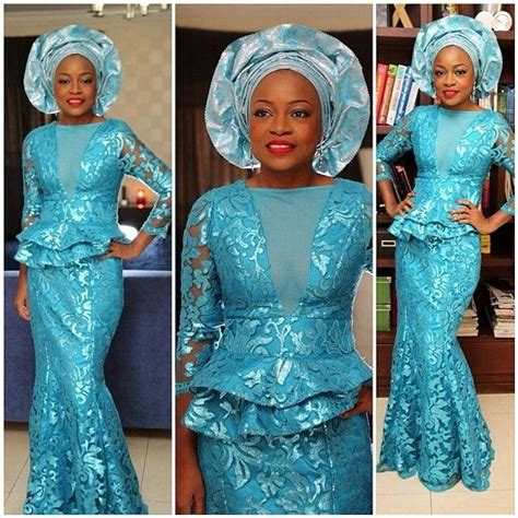 nigerian traditional marriage pictures newhairstylesformen2014 com pretty color turquoise blue african print ankara lace