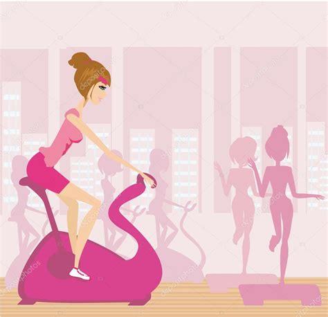 imagenes vectoriales personas vector siluetas de personas haciendo ejercicio en un