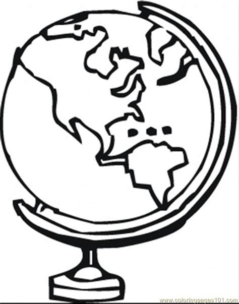 coloring page of globe free coloring pages of a world globe