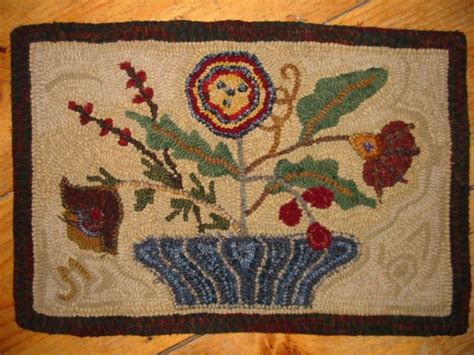 searsport rug hooking 17 best images about rug hooking fleurs on wool basket of flowers and antiques
