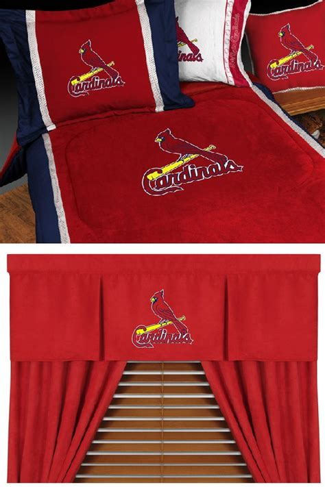 st louis cardinals bedroom mlb saint louis cardinals mvp baseball bedding set