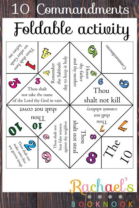 10 commandments ten commandments printable 10 commandments activities