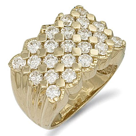 9ct yellow gold 23mm cz keeper ring jewellery world