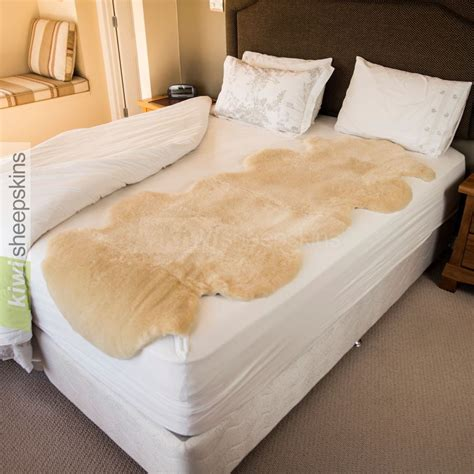 sheepskin bed pad natural shape medical sheepskin underlay improves sleep
