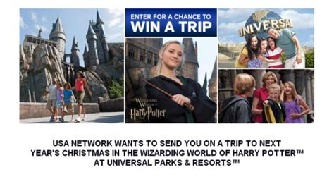 Wizarding World Of Harry Potter Sweepstakes - the wizarding world of harry potter sweepstakes win a trip