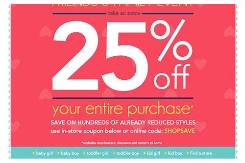 carter's outlet coupon