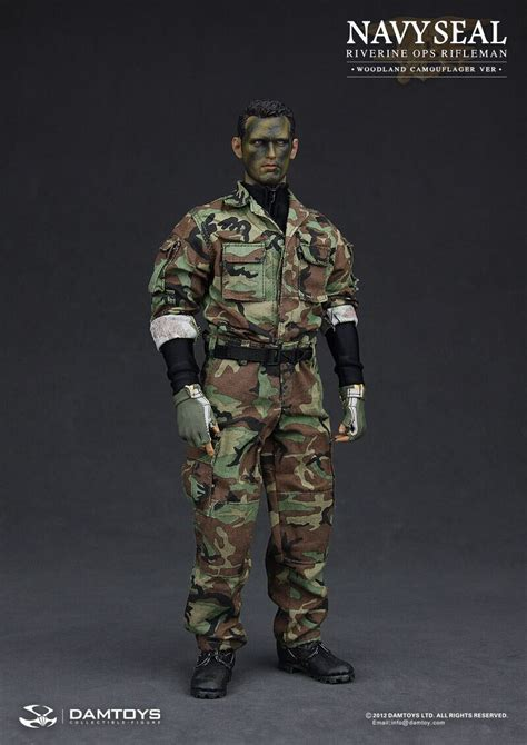 Tas Army Wordland Navy Seal dam 1 6 scale 12 navy seal riverine ops rifleman woodland camo figure 93015 3a16 toys