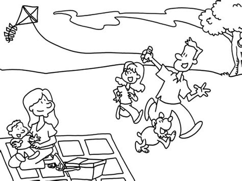 coloring pages of family picnic free coloring pages of picnic with family