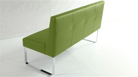 bench with backrest funky lime green dining bench quilted seat and backrest