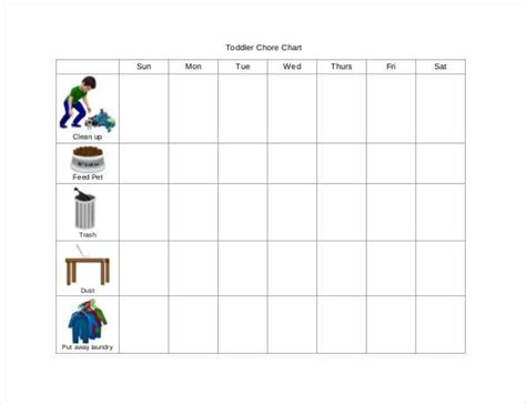 Chore Chart For Adults Templates by Weekly Chore Chart Template 31 Free Word Excel Pdf