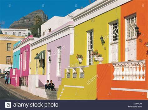 buy a house in cape town brightly painted houses in malay quarter bo kaap above
