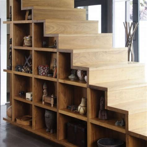 staircase storage make use of dead space under the stairs