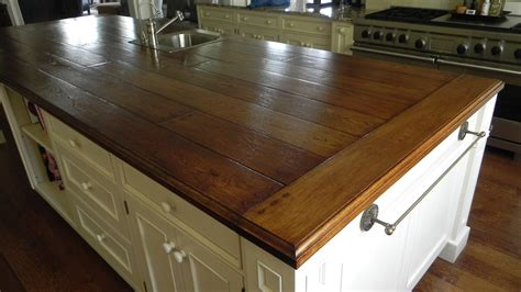 Hickory Wood Countertops by Kitchen Concept On
