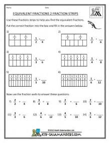 Free Worksheets On Equivalent Fractions by Equivalent Fractions Strips Printable Quotes