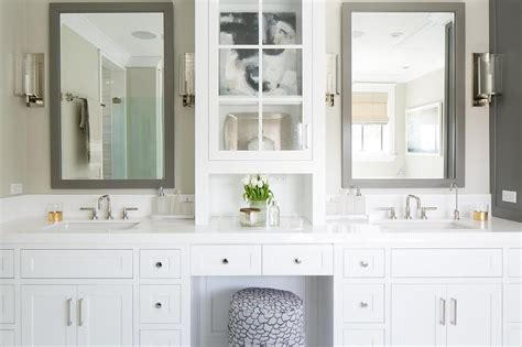 grey bathroom mirror white bathroom vanity with gray mirror transitional