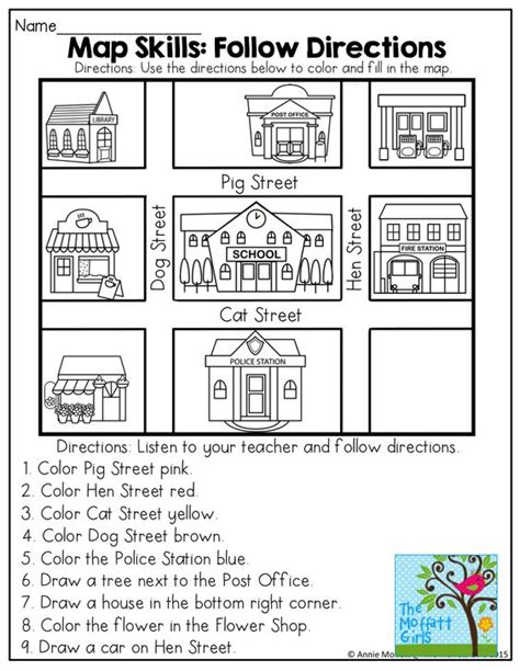 map activity april no prep packet kindergarten coloring 1st grades