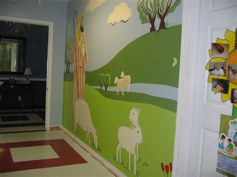 Church Nursery Decorations Church Preschool Hallway Mural 90 Finished Church