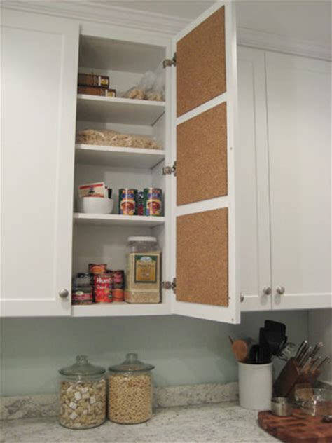 kitchen bulletin board ideas create a in cabinet cork board message center it s an easy diy project that anyone can do