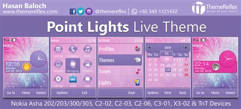 free themes for nokia c2 02 touch and type point lights live theme for nokia asha 202 203 300 303