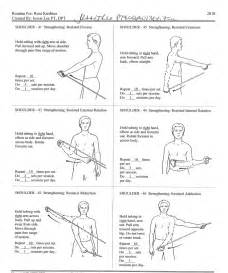 Upper extremity exercise handouts seated exercises