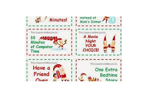 printable christmas coupons for parents
