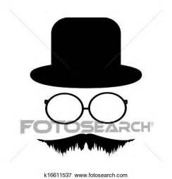 clipart occhiali clip baffi occhiali e uno cappello k16611537