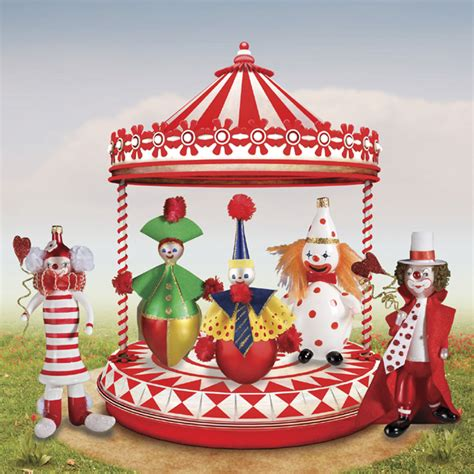 circus ornaments de carlini clowns ornaments the cottage shop
