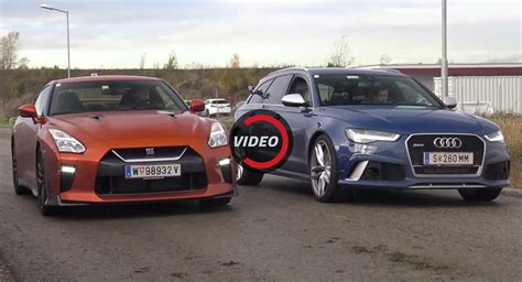 nissan audi audi rs6 performance tries to beat 2017 nissan gt r again