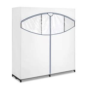 60 Inch Armoire 60 Inch Wide Zippered Clothes Closet Wardrobe In White