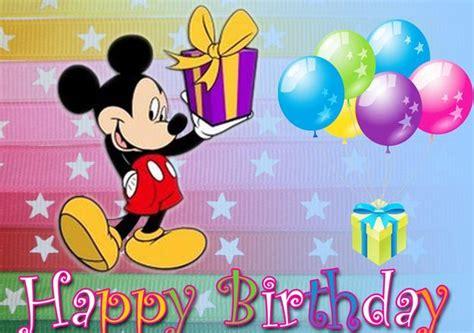 Mickey Mouse Happy Birthday Wishes Mickey Mouse Greeting Cards Birthday Birthday Cards
