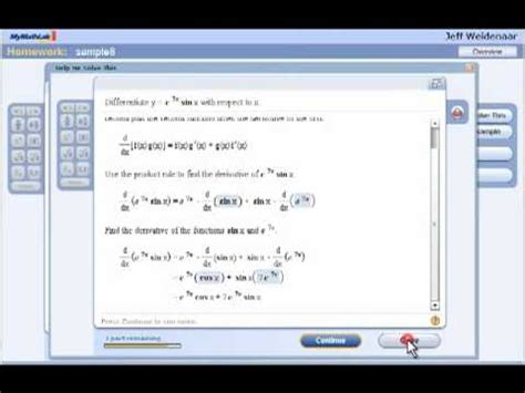 Mymathlab For Calculus Youtube