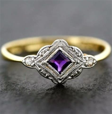 antique rings deco ring and gold platinum on