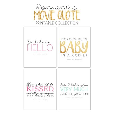 romantic movie quotes valentine printables bren did free printable package romantic movie quotes