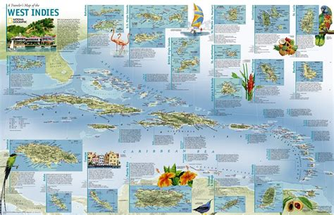 map of the west leeward islands cruising guides