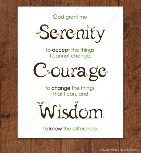 printable version of the serenity prayer the serenity prayer 8x10 print christian art by