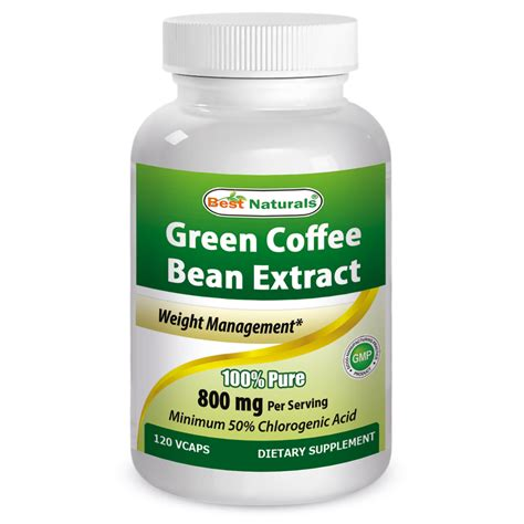 Green Coffee Bean Extract health green coffee bean extract 800 mg capsules 90 count walmart