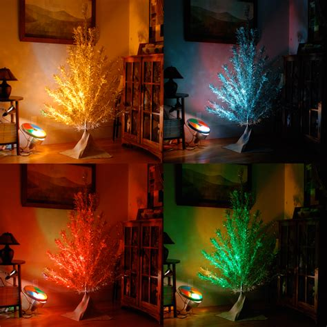 Blog Of Zoey December 2010 Aluminum Tree With Color Wheel Light