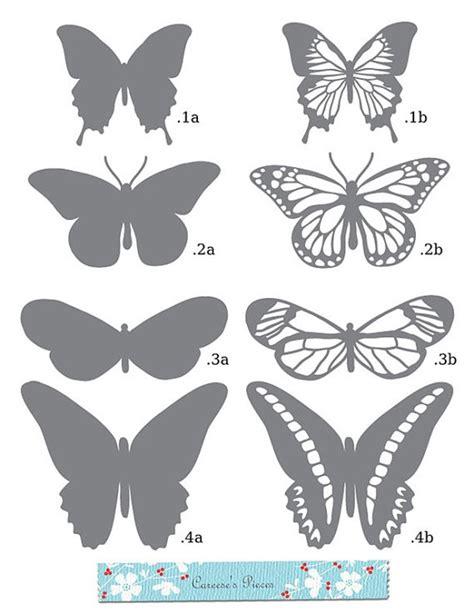 Butterfly Papercraft - artesanato molde de borboletas