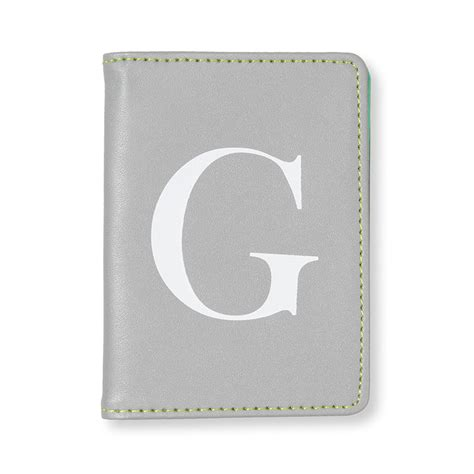 Card Holder Alfabeth Diskon mint alphabet travel card holder g gifts oliver bonas