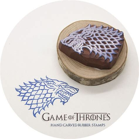 which game of thrones house are you game of thrones house stark sigil hand carved rubber