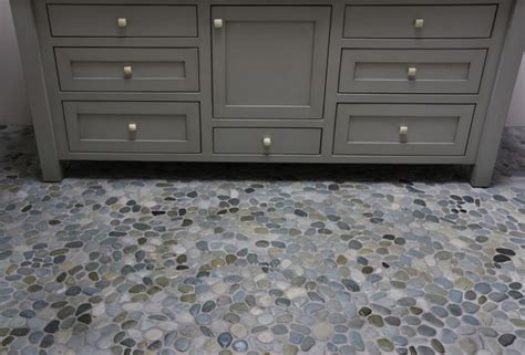 Island stone perfect pebble floor modern bathroom other by island stone
