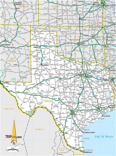 road map texas texas map