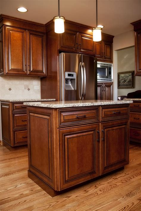 Stained Kitchen Cabinets Beautiful Maple Stained Cabinets With Black Glaze In This Plainfield Il Cook S Kitchen River