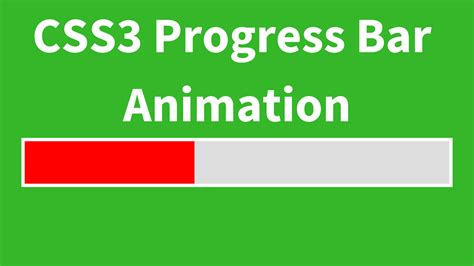 css keyframes tutorial css3 simple progressbar animation c java php