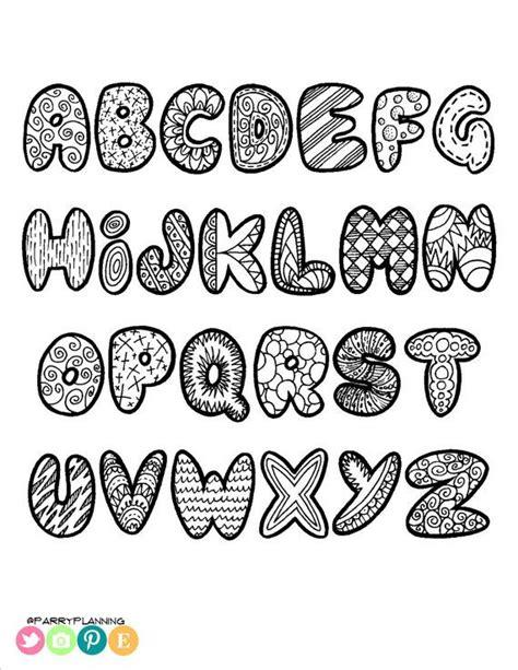 design huruf latin printable doodle alphabet doodle alphabet printable