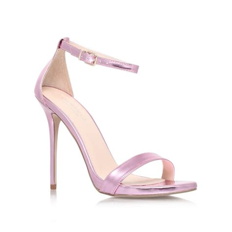pink high heel sandals carvela kurt geiger glacier high heel sandals in pink lyst