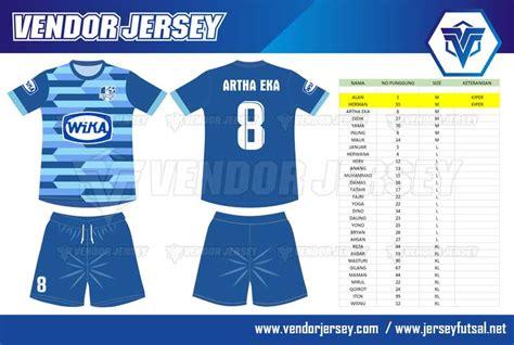Sablon Nameset Dan Nomor Punggung Baju Futsal Sepak Bola Order Pembuatan Baju Futsal Pesanan Pt Wika Vendor Jersey