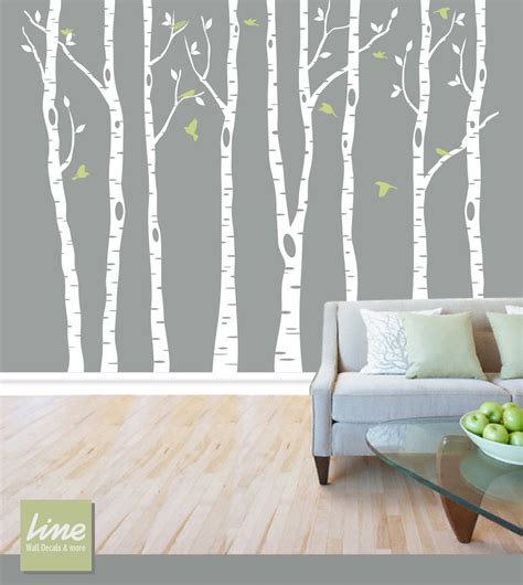 wall birch tree decal forest birch trees birch trees vinyl